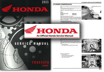 Manuals & Literature 31HN8620 2005 Honda TRX650FA FGA FourTrax Rincon w GPScape ATV Owners Manual Motorcycle Manuals & Literature