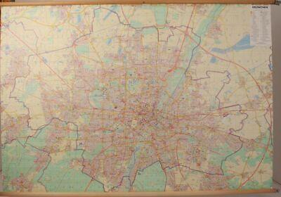 Schulwandkarte Role Map Wall Chart City Map Munich Jro 1:20000