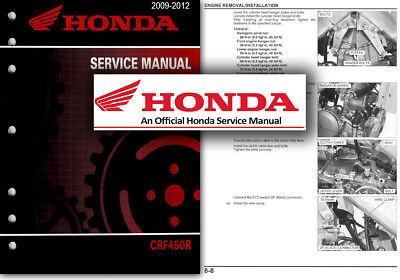 Honda CRF450R 2009 to 2012 Service Workshop Repair Shop Manual CRF 450 R CRF450