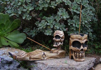 Курильница Skull Skeleton Incense Burner or