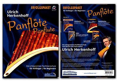 Panflöte Set - Schule für Anfänger - Lehrbuch 1 , Spielstücke 1, DVD , 2 x CDs