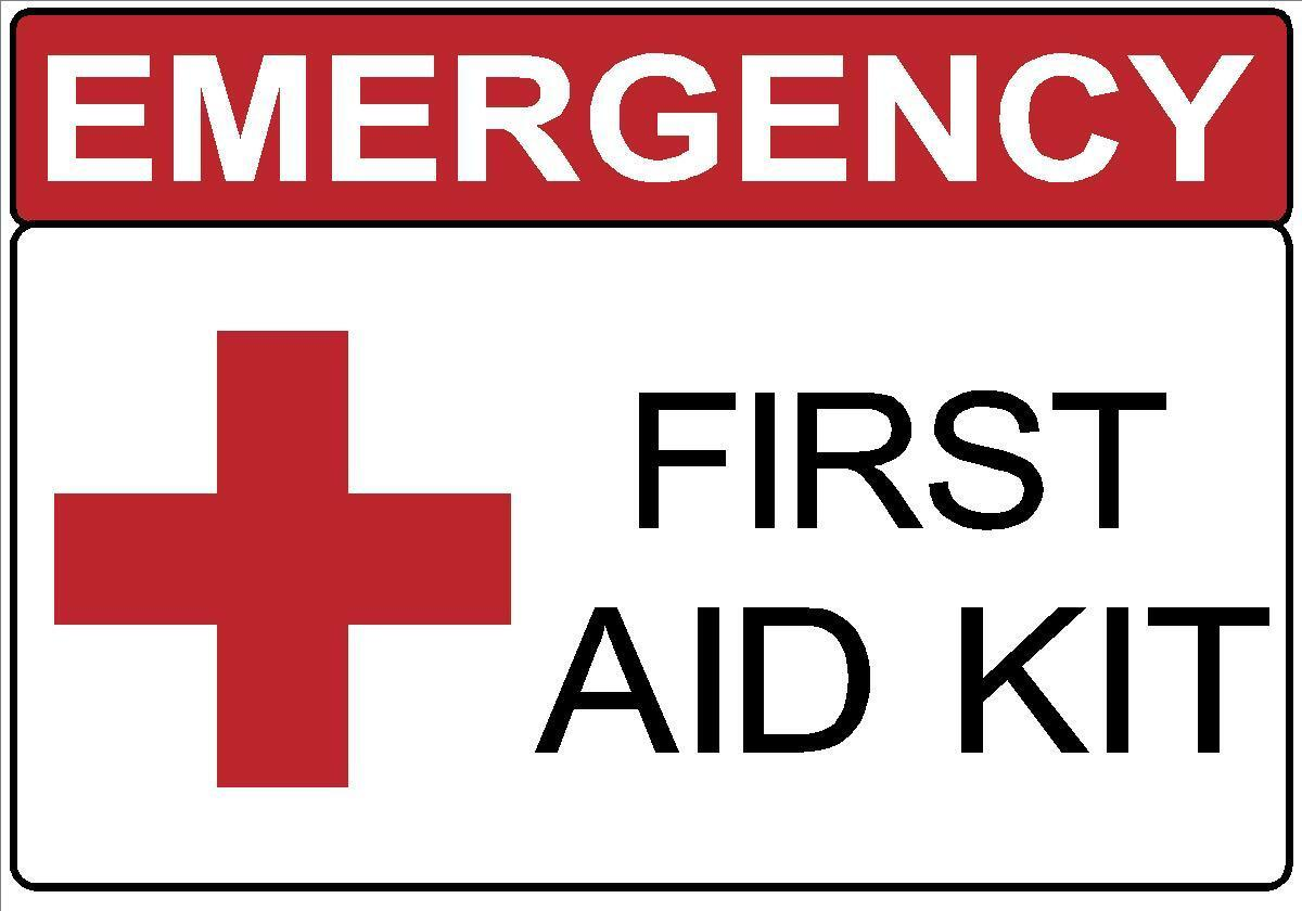Home Decoration - EMERGENCY FIRST AID KIT DECAL SAFETY SIGN STICKER OSHA HOSPITAL