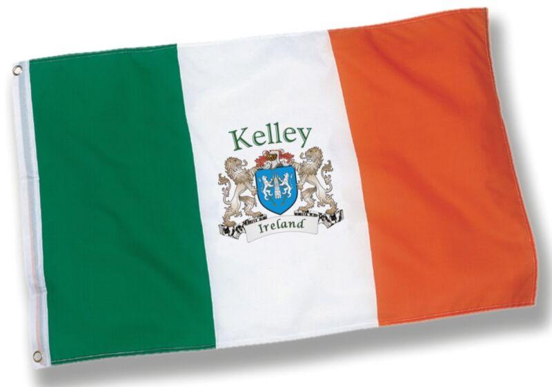 Kelley Irish Coat of Arms Flag - 3