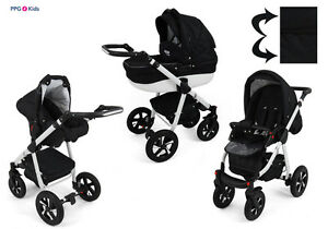 Baby-Pram-Pushchair-Buggy-Stroller-Car-Seat-Modern-Travel-System-3-in-1-2in1