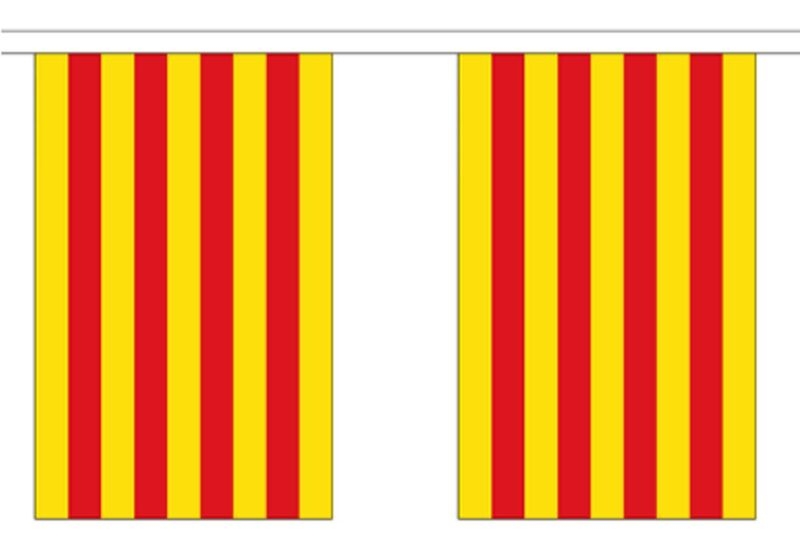 Spain Catalonia Polyester Flag Bunting - 9m long with 30 Flags
