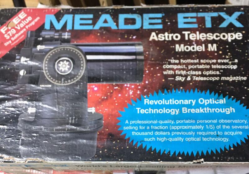 Meade Etx Model M Telescope, Still In Box!! Take A Look!!!