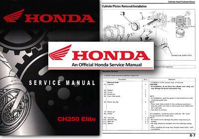 Honda CH250 Elite Service Workshop Repair Shop Manual CH 250 Scooter