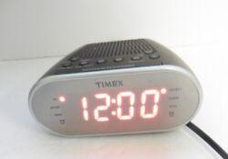 Timex T2312W AM/FM Mirror Dual Alarm Clock Radio w/ Digital Tuning