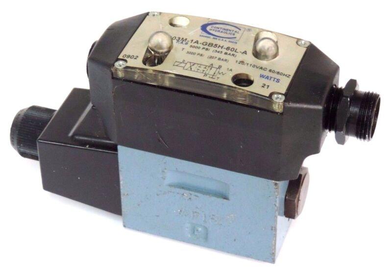 CONTINENTAL VSD03M-1A-GB5H-60L-A HYDRAULIC VALVE 21WATTS 110-120VAC 50/60HZ