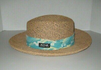 Panama Jack Men's Panama Ecuadorian Straw Hat with Headband  sz Large / XL *EUC*