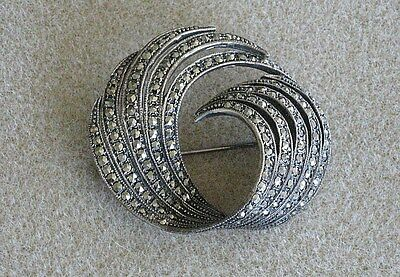 Marcasite & Sterling Silver Pin Brooch, Vintage 1990; New; Vintage Creations