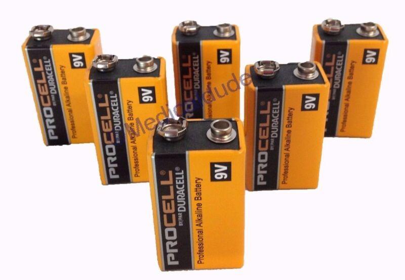 Duracell Procell PC1604 Alkaline 9V Batteries 6 Batteries