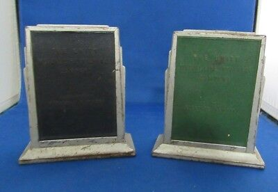 Wonderful Vintage Pair Of Metal Banks   Unity Mutual Life Insurance Co