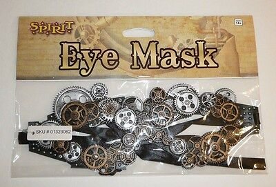 Halloween Eye Mask GEARS Steampunk Steam Punk Costume Cosplay Industrial Adult - Spirit Halloween Eye Masks