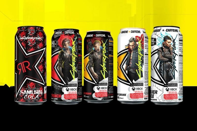 Rockstar Energy Cyber Punk 2077 Complete Set 5 lot Rare NEW unopened Full Cheap!