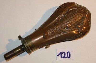 C120  Ancienne gourde fiole en cuivre - XIX - rare - +- 15 cm