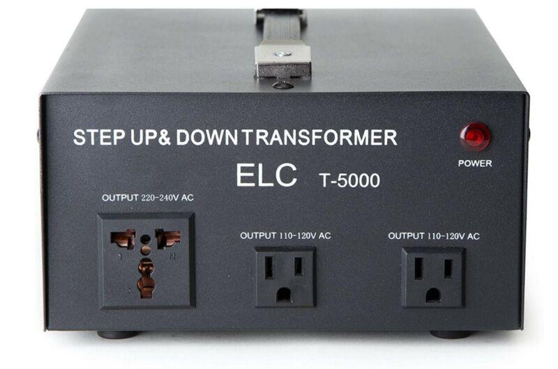 ELC T-5000 5000-Watt Voltage Converter Transformer - Step Up/Down - 110V/220V