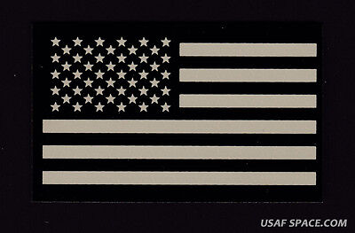 AUTHENTIC US MILITARY IR INFRARED Forward Facing US FLAG HOOK & LOOP PATCH