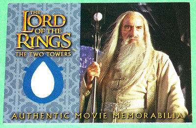 Lord of The Rings Saruman's Overtunic Christopher Lee Costume Card Two Towers - Saruman Costume