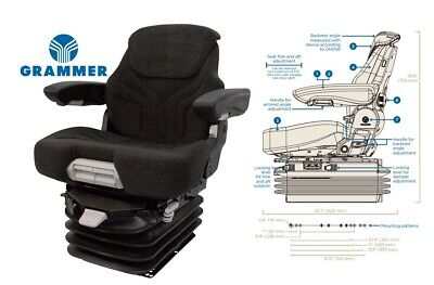 Air Suspension Seat Komatsu Backhoe Loader Dozer Excavator Wheel Loader