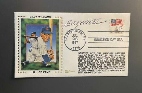 Billy Williams Autographed First Day Cover Envelope Chicago Cubs HOF