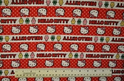 - By the 1/2 yard cotton quilt fabric Hello Kitty Gingerbread Stripes holiday sew