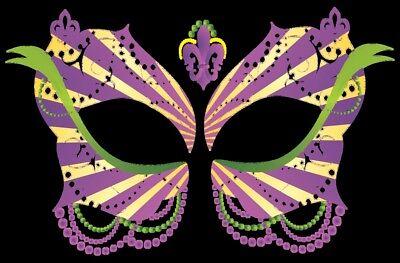 Masque Rage Temp Tattoo Mask Ladies Mardi Gras Masquerade Costume](Mardi Gras Tattoos)