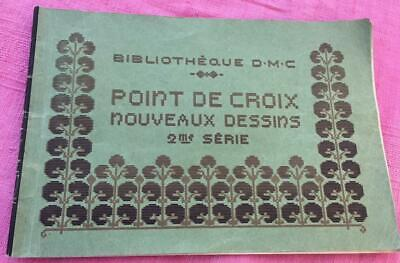 VINTAGE FRENCH CROSS STITCH MAGAZINE BIBLIOTHEQUE DMC 2ND SERIES 21 PAGES