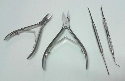 Podiatry Instruments Ingrown Black File Lifer Ingrown Nail Cutters Kit