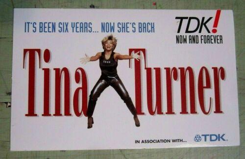 Tina Turner 1996 Original Promo Sticker TDK