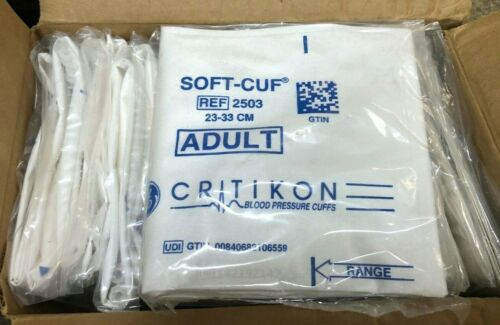 (20) Soft-Cuf 2503 Adult Blood Pressure Cuffs 23-33cm critikon hospital medical