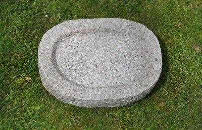 Quality, Solid Granite Bird Bath, Japanese Garden Ornament/Water Feature