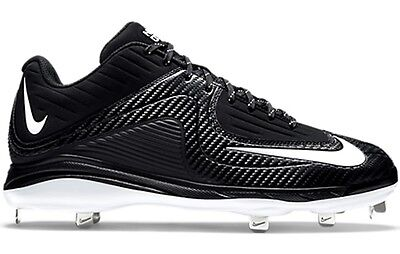 New Nike Air Mvp Pro Metal Ii Sz 7 5 Black White Baseball Softball Shoes Cleats