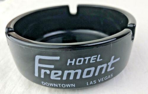 Hotel Fremont Downtown Las Vegas Casino Ashtray Black Glass