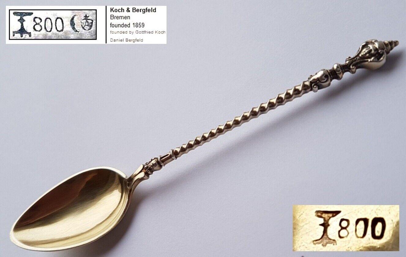 Koch /& Bergfeld vergoldet Kaffee-// Mocca- Löffel 800er Silber K235 Maskaron