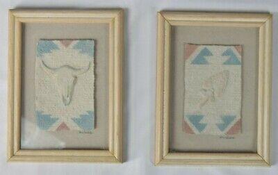 Set Of 2 FIGI GRAPHICS Wall Decor Arrowhead & Skull 6