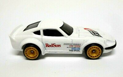 Hot Wheels custom Initial D Nissan Fairlady Red Suns with Real Riders Gold Rims