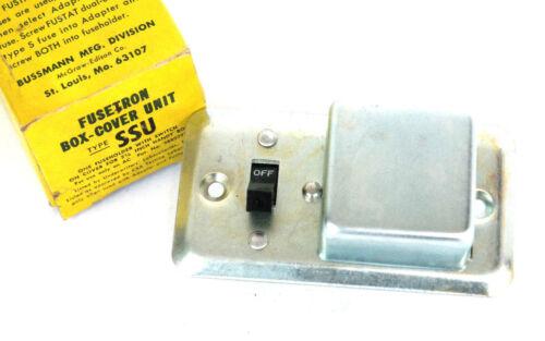 """NIB BUSSMANN FUSETRON SSU BOX-COVER UNIT FOR 2-1/4"""" HANDY BOX"""