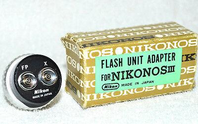 NIKONOS III Flash Unit Adaptador Fp X con Embalaje E Instrucciones Vintage