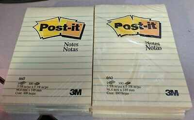 6pk - Post-it 660 - Notes - Canary Yellow - Ruled