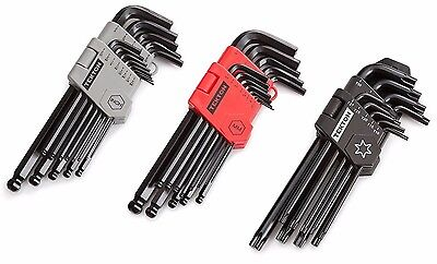 35 Pc  Allen Ball End Long Arm Hex Key Wrench Set Inch Metric With Star Key Set