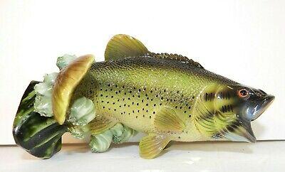 Fish Bass Life Symbols Batesville Casket Medallion Decoration Fisherman Funeral
