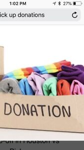 Available to pick up your items for donation