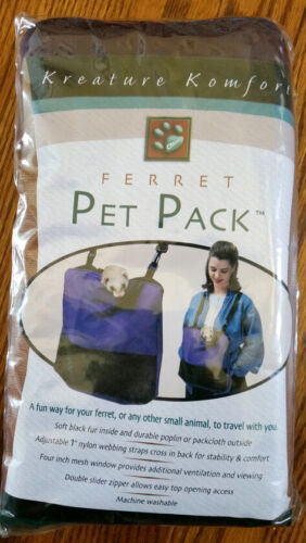CADDIS Pet Pack Travel Carrier Hiking Ferrets Hamsters Chinchillas Rats