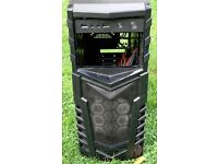 Pc Tower Case Immaculate condition Includes 500 watt PSU.