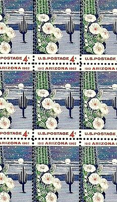 1962 - ARIZONA STATEHOOD - #1192 Full Mint -MNH- Sheet of 50 Postage Stamps