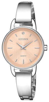Citizen Women's EZ6370-56X Quartz Pink Dial Silver-Tone Bangle 28mm Watch