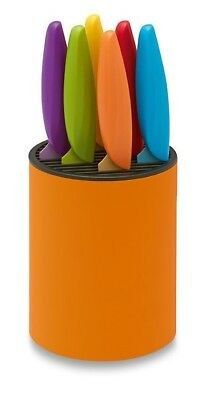 Multi-Colored Steak Knife Set with Orange Block