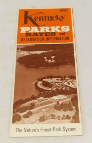 1975 Kentucky Parks Rates & Reservation Information Brochure Pamphlet Flyer