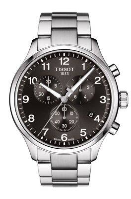 New Tissot Chrono XL Classic Mens Stainless Steel Watch T1166171105701